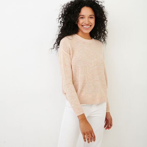 Roots-Women Categories-Tathlina Crew Sweater-Dusty Peach Melba-A