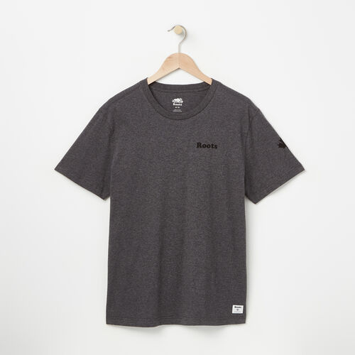 Roots-New For August Men-Mens Remix T-shirt-Charcoal Mix-A