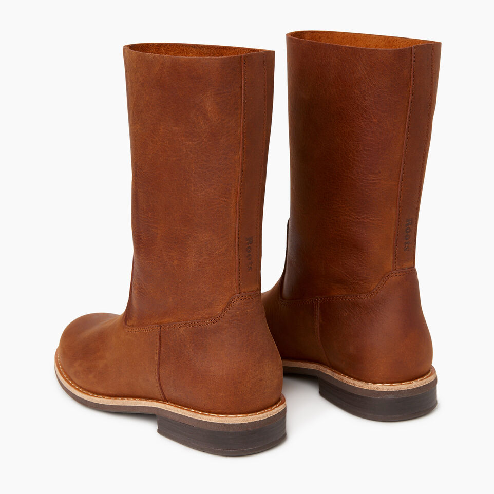 Roots-Women Categories-Womens Vintage Mid Boot-Natural-E