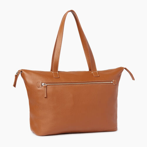 Roots-Leather Categories-Go To Bag-Caramel-A