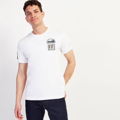 Roots-Sale Tops-Camp Patch T-shirt-Crisp White-A