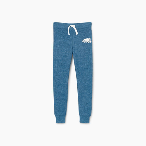 Roots-Kids Girls-Girls Cozy Fleece Sweatpant-Moroccan Blue Pepper-A