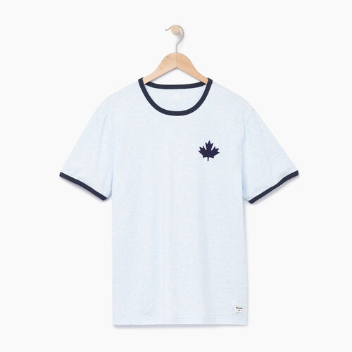Roots-Clearance Tops-Mens Canada Cabin Ringer T-shirt-Baby Blue Mix-A