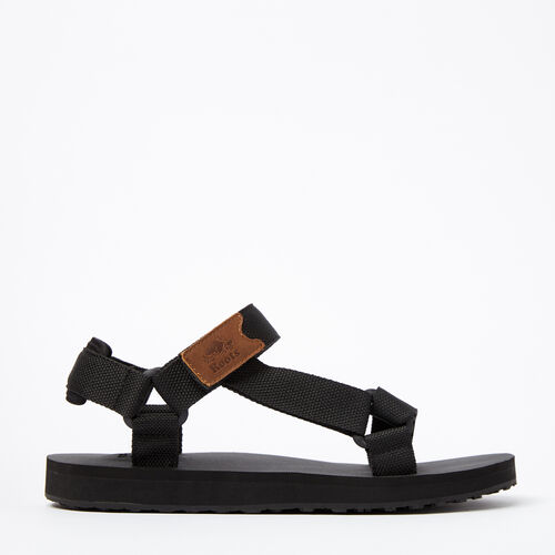 Roots-Winter Sale Footwear-Mens Tofino Sandal Web-Black-A