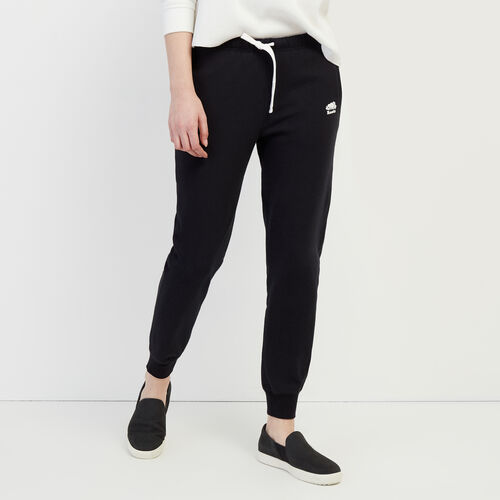 Roots-Women Categories-Slim Cuff Sweatpant-Black-A