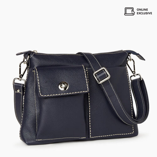 Roots-Leather Bestsellers-The Villager Cervino-Navy-A