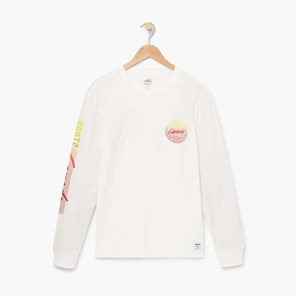 Roots-Men Our Favourite New Arrivals-Mens Roots Miami Long Sleeve T-shirt-Ivory-A