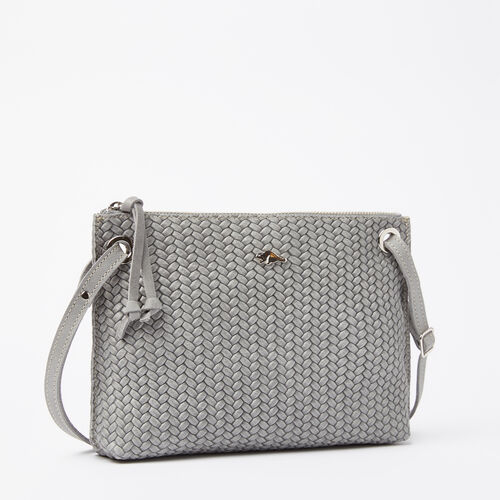 Roots-Sale Leather-Edie Bag Woven Tribe-Quartz-A