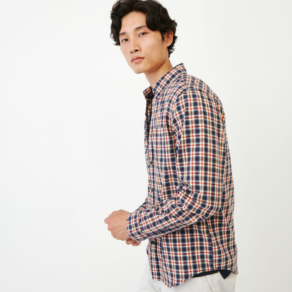 Roots-Men Our Favourite New Arrivals-Windermere Long Sleeve Shirt-Sage Red-C