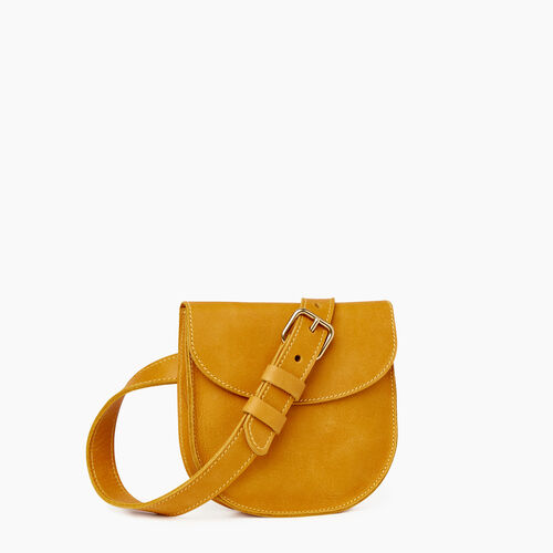 Roots-Leather Our Favourite New Arrivals-Lambert Belt Pack-Squash Yellow-A