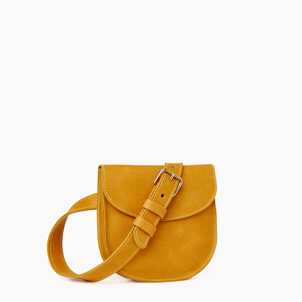 Roots-Leather New Arrivals-Lambert Belt Pack-Squash Yellow-A