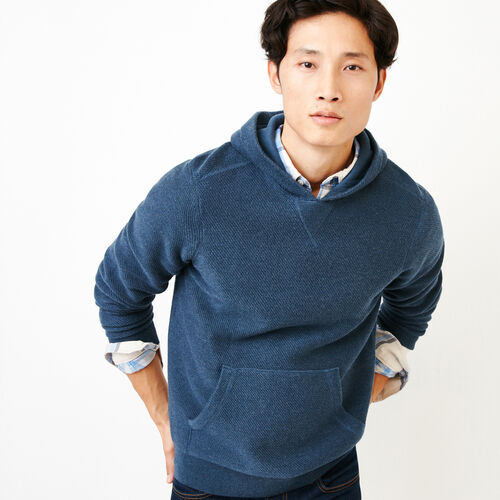 Roots-Men Sweaters & Cardigans-Maple Sweater Hoody-Sargasso Sea Mix-A
