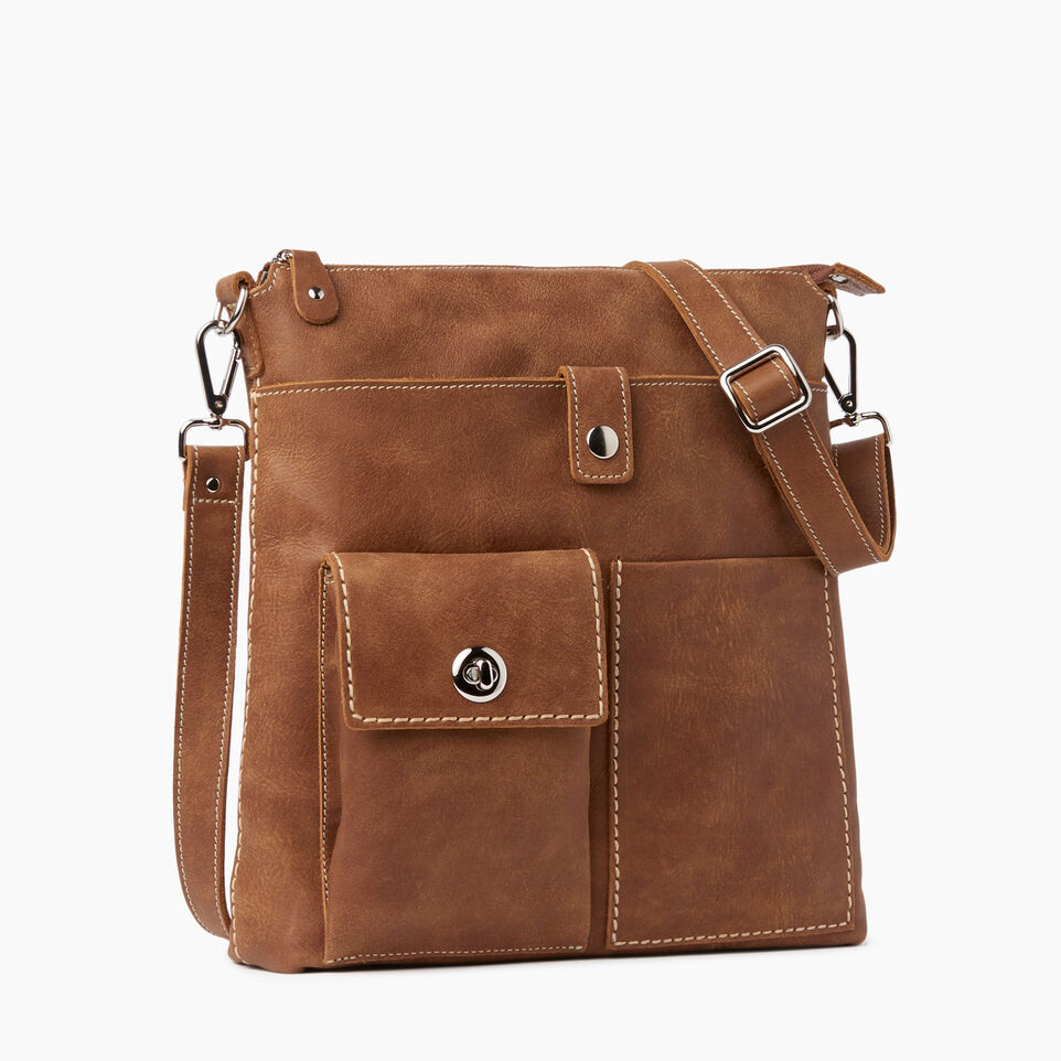 Roots-Leather  Handcrafted By Us Handbags-Canadian Villager-Natural-A
