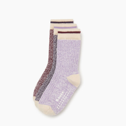 Roots-Kids Accessories-Toddler Cabin Sock 3 pack-Purple-A