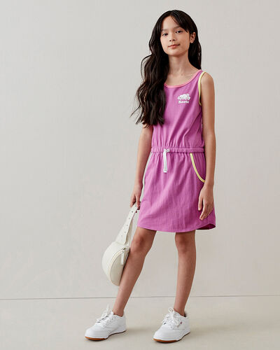 Roots-Kids Bestsellers-Girls Camp Ringer Tank Dress-Radiant Orchid-A