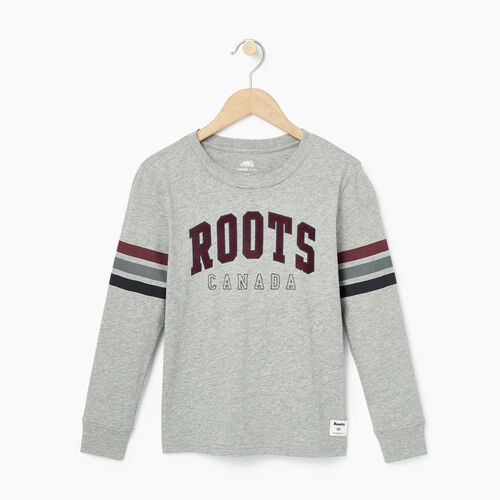 Roots-Kids Bestsellers-Boys Arch Roots Top-Grey Mix-A
