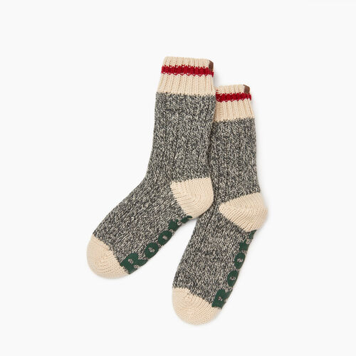 Roots-Kids Girls-Kids Cabin Lounge Sock-Grey Oat Mix-A