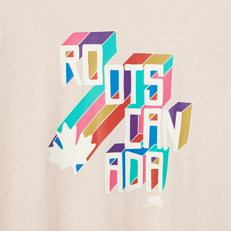 Roots-Women Our Favourite New Arrivals-Womens Multi- Colour Roots Long Sleeve T-shirt-Pink Cloud-D