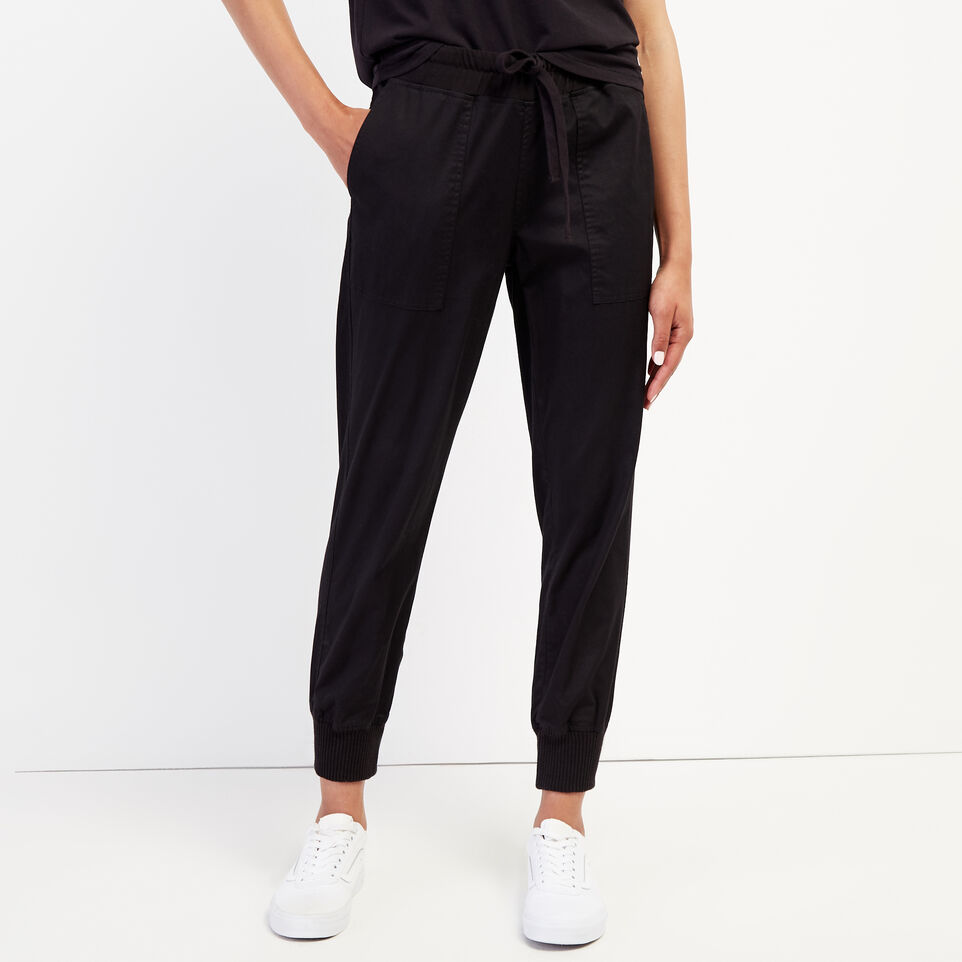 Roots-New For September Journey Collection-Journey Jogger-Black-A