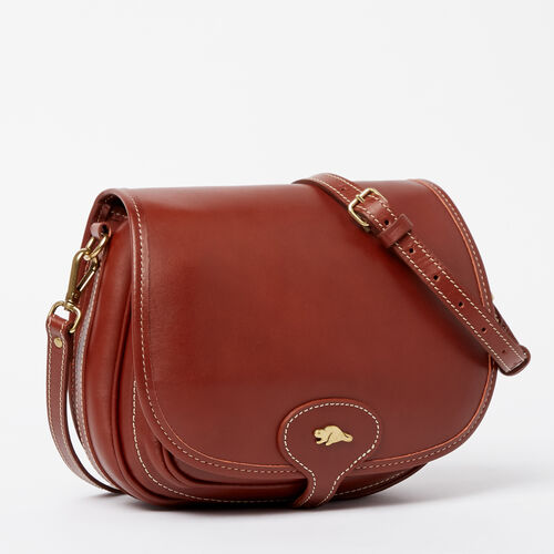 Roots-Leather Handbags-Medium English Saddle Heritage-Oak-A