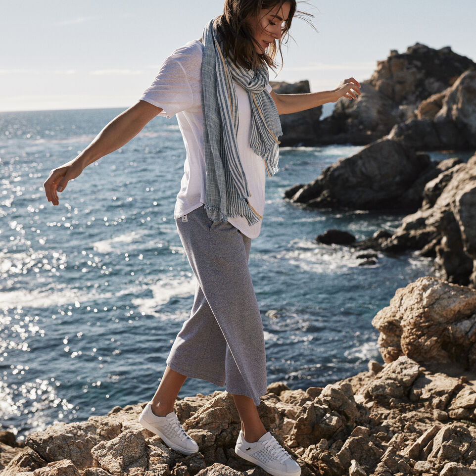 Roots-Winter Sale Women-Mabel Lake Culotte Sweatpant-Salt & Pepper-B