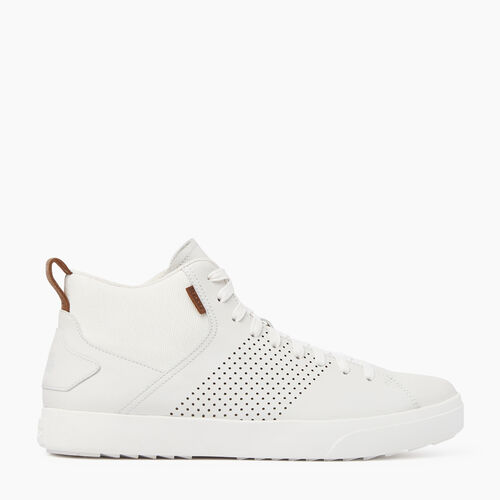 Roots-Footwear Men's Footwear-Mens Bellwoods Mid Sneaker-White-A
