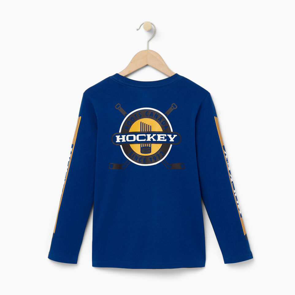 Roots-Kids Our Favourite New Arrivals-Boys Hockey T-shirt-Active Blue-B