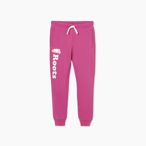 Roots-Kids New Arrivals-Girls Remix Sweatpant-Purple Orchid-A