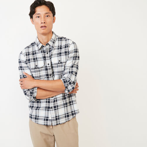 Roots-Men Shirts & Polos-Emerson Shirt-Grey Mix-A