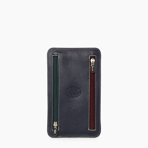 Roots-Leather New Arrivals-Zip Travel Pouch Cervino-Navy/red-A