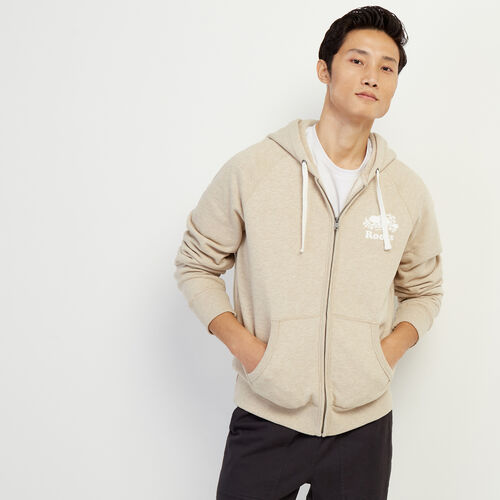 Roots-Men Our Favourite New Arrivals-Original Full Zip Hoody-Flaxseed Mix-A