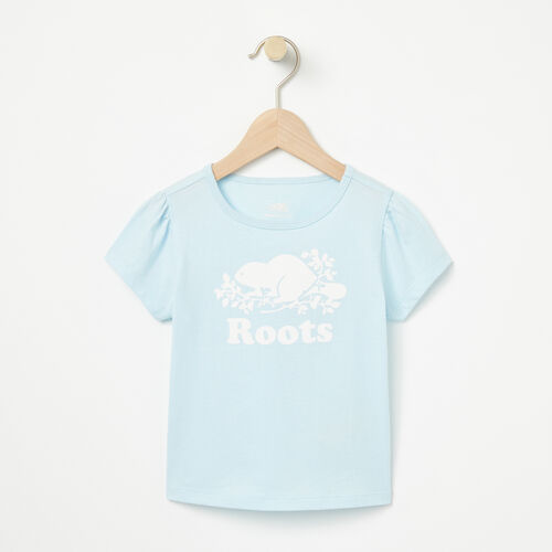 Roots-Kids T-shirts-Toddler Cooper Beaver Puff T-shirt-Chambray Blue-A