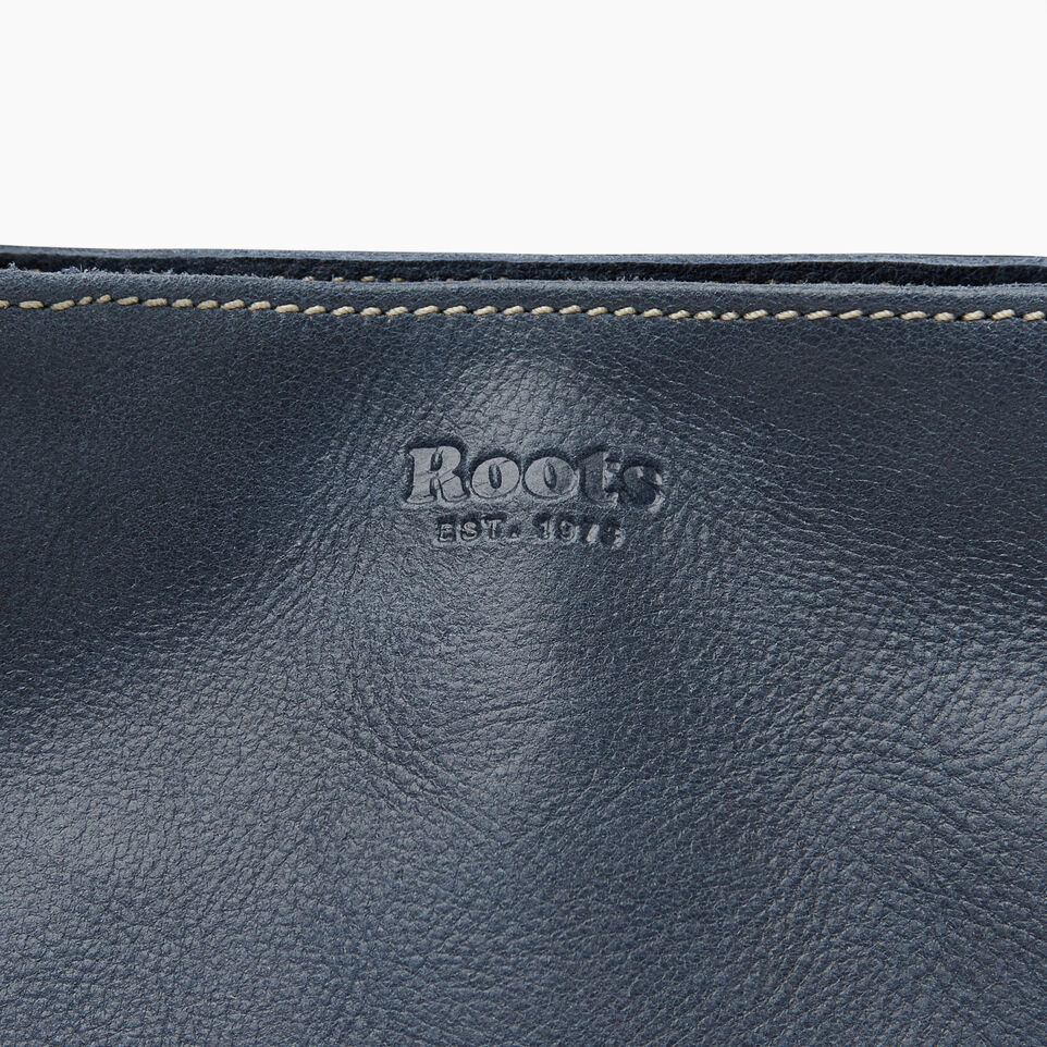 Roots-Leather Collections-Mont Royal Bag - Colour Block-Navy-E