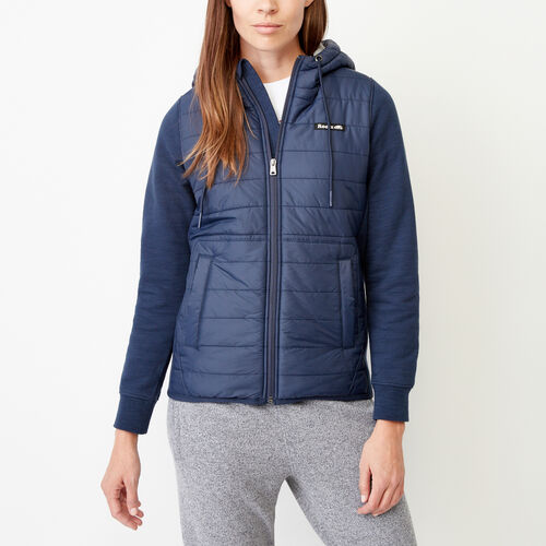 Roots-Women Our Favourite New Arrivals-Roots Hybrid Hoody Jacket-Navy Blazer-A