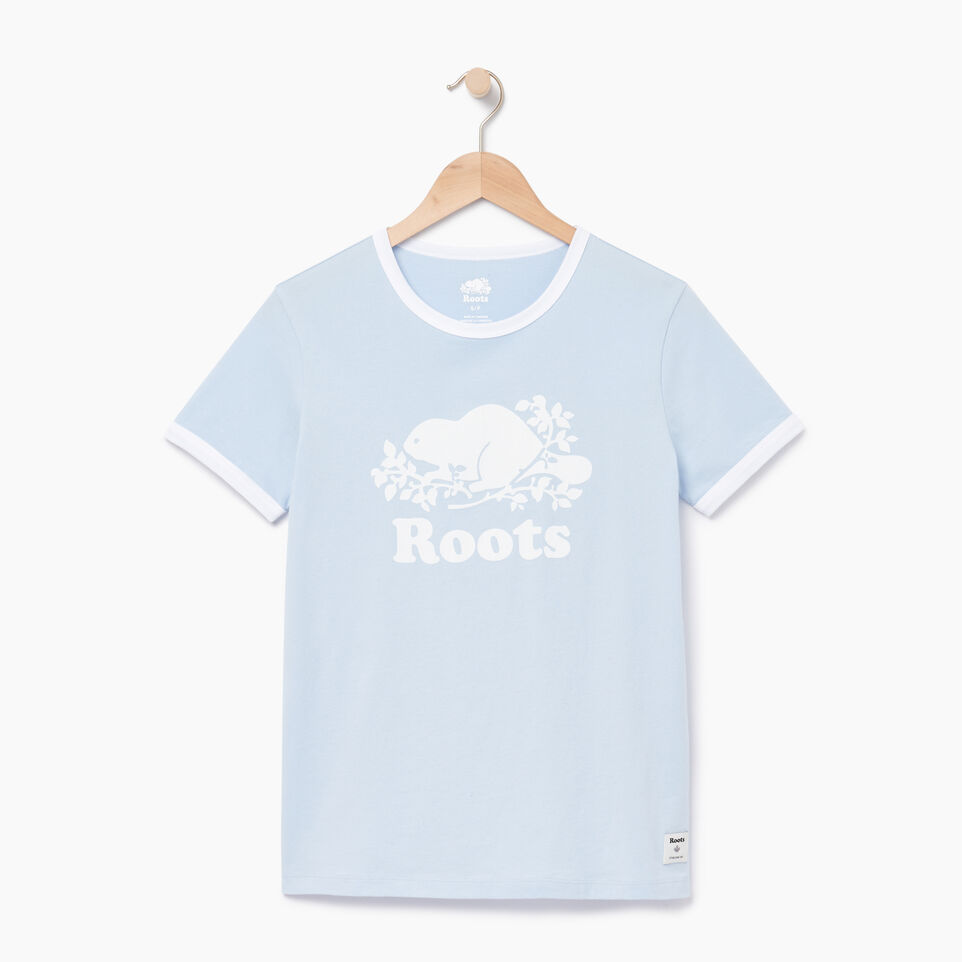 Roots-Women Our Favourite New Arrivals-Womens Cooper Beaver Ringer T-shirt-Skyway-A