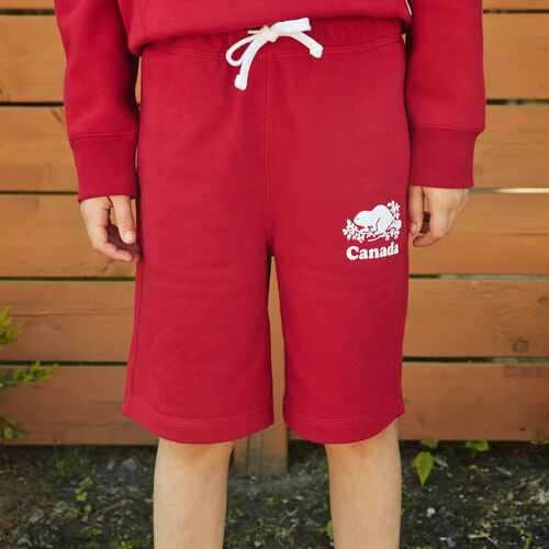 Roots-Kids Boys-Boys Canada Short-Sage Red-A