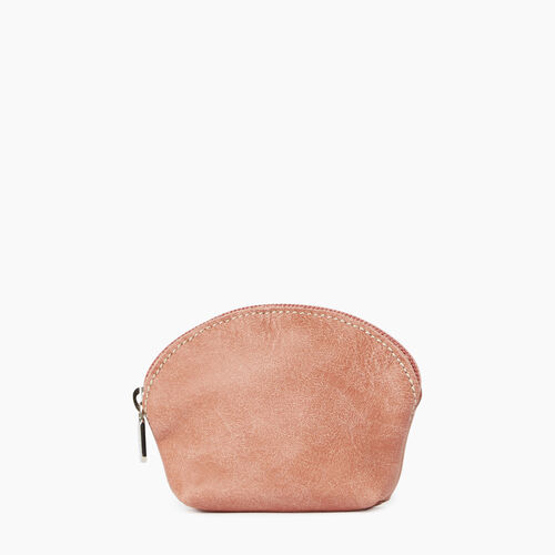Roots-Leather  Handcrafted By Us Leather Accessories-Small Euro Pouch Tribe-Canyon Rose-A