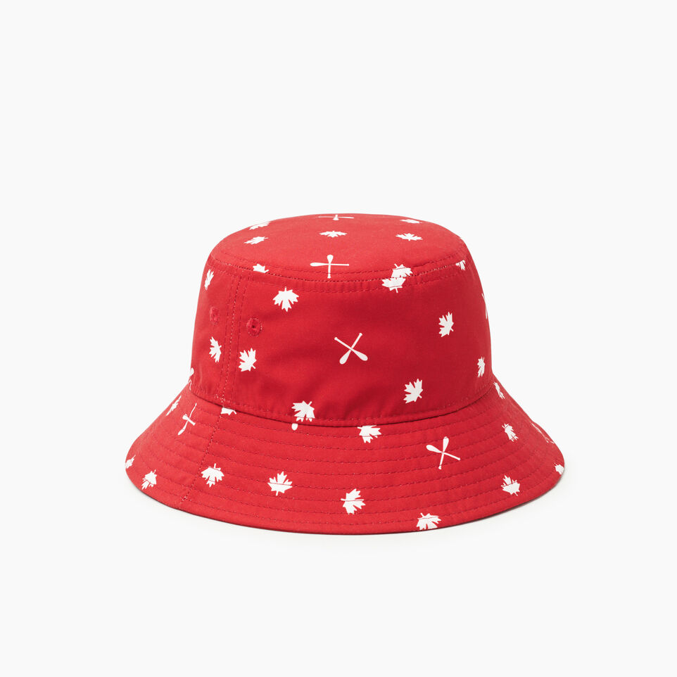 Roots-Kids Toddler Boys-Toddler Canada Aop Bucket Hat-Red-B