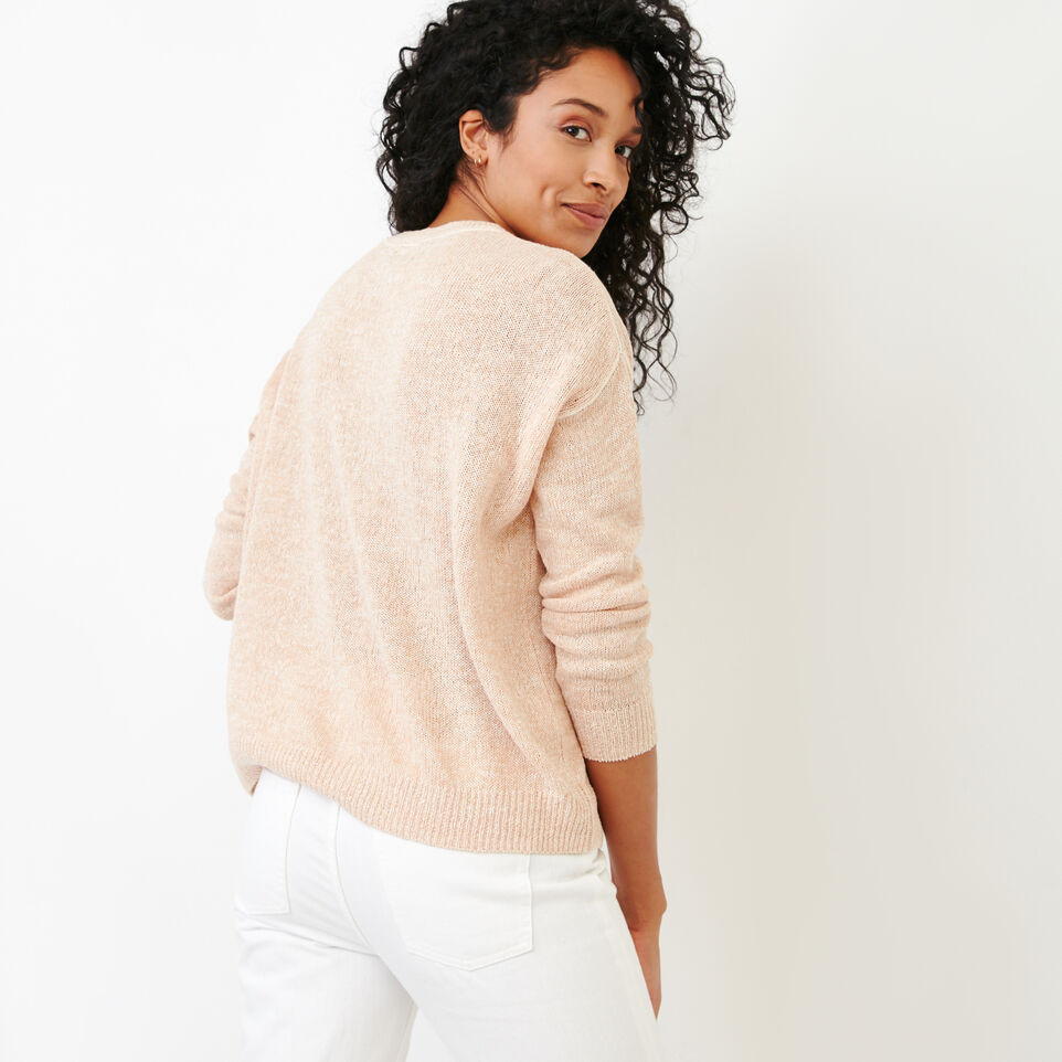Roots-Women Our Favourite New Arrivals-Tathlina Crew Sweater-Dusty Peach Melba-D