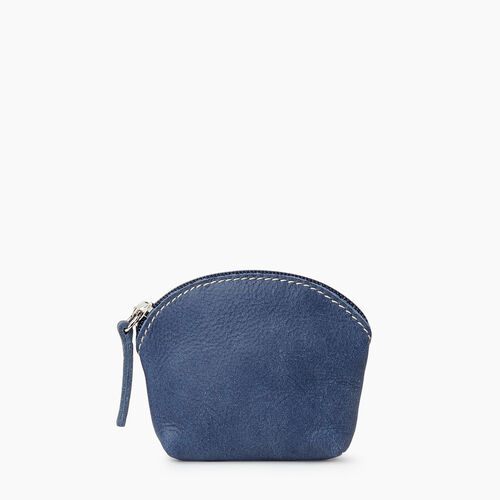 Roots-Leather Collections-Small Euro Pouch Tribe-Denim Blue-A