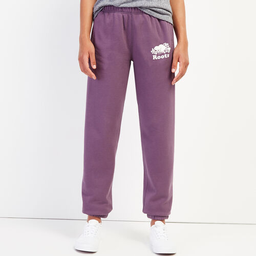 Roots-Women Sweatpants-Original Sweatpant-Vintage Violet-A
