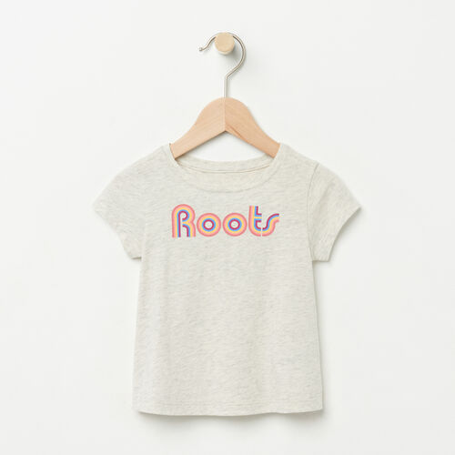 Roots-Kids Baby-Baby Swing T-Shirt-White Grey Mix-A
