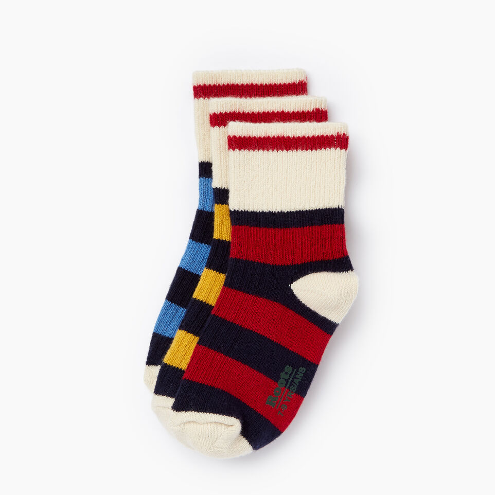 Roots-undefined-Kids Rugby Ankle Sock 3 Pack-undefined-A