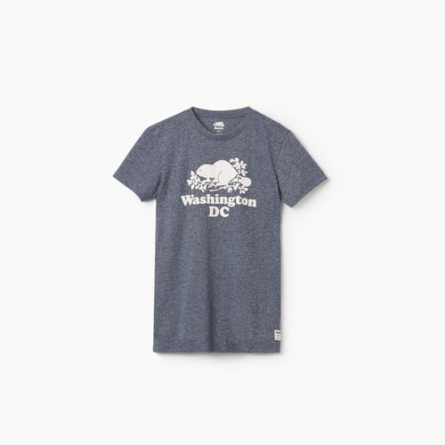 Roots-New For September City Collection-Washington DC T-Shirt - Womens-Blue Iris Pepper-A
