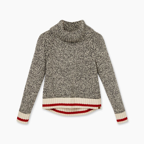 Roots-Kids Girls-Girls Cabin Funnel Neck Sweater-Grey Oat Mix-A