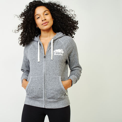 Roots-Women Categories-Roots Salt and Pepper Original Full Zip Hoody-Salt & Pepper-A