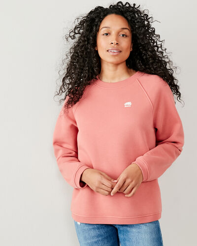 Roots-Women Tops-Spruce Crew Sweatshirt-Canyon Rose-A