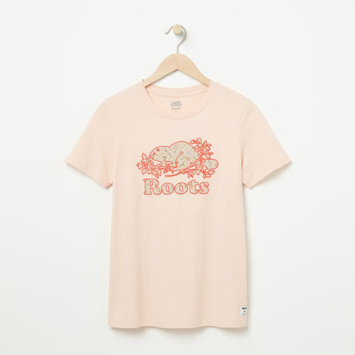 Roots-Women Graphic T-shirts-Womens Classic Bloomer T-shirt-Pale Blush-A