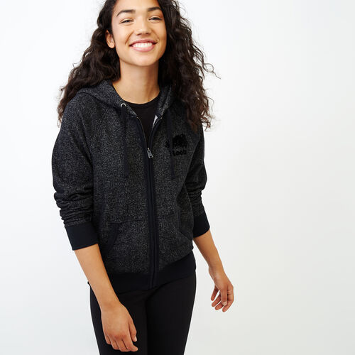 Roots-Women Categories-Original Full Zip Hoody-Black Pepper-A