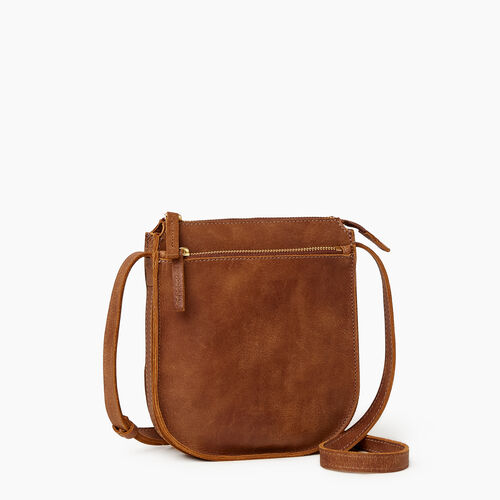 Roots-Leather  Handcrafted By Us Handbags-Lambert Crossbody-Natural-A